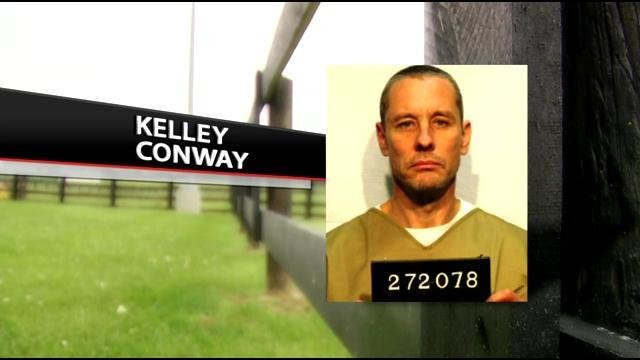 Kelley Conway was captured Tuesday in Galveston, Texas, after being on the run for nearly six months.