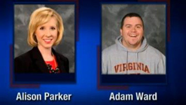 (Courtesy of WDBJ-TV7 via AP). This screenshot from WDBJ-TV7, in Roanoke, Va., shows reporter Alison Parker and photographer Adam Ward. Parker and Ward were killed, Wednesday, Aug. 26, 2015, when a gunman opened fire during a live on-air interview.