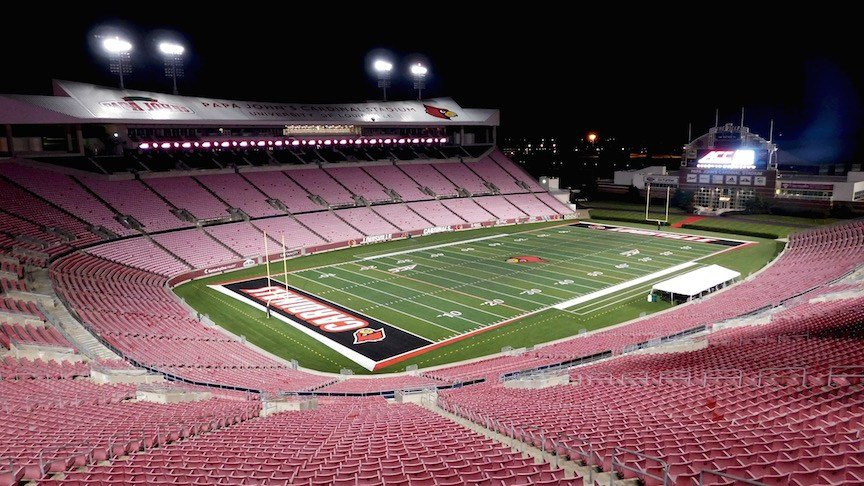 The north end zone of Papa John's Cardinal Stadium could soon be enclosed. (WDRB photo by Eric Crawford)