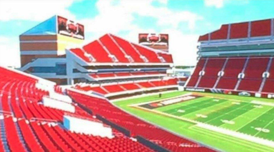 Proposed expansion of PJCS' north end zone. Twitter photo submitted by Jeff Kopple.