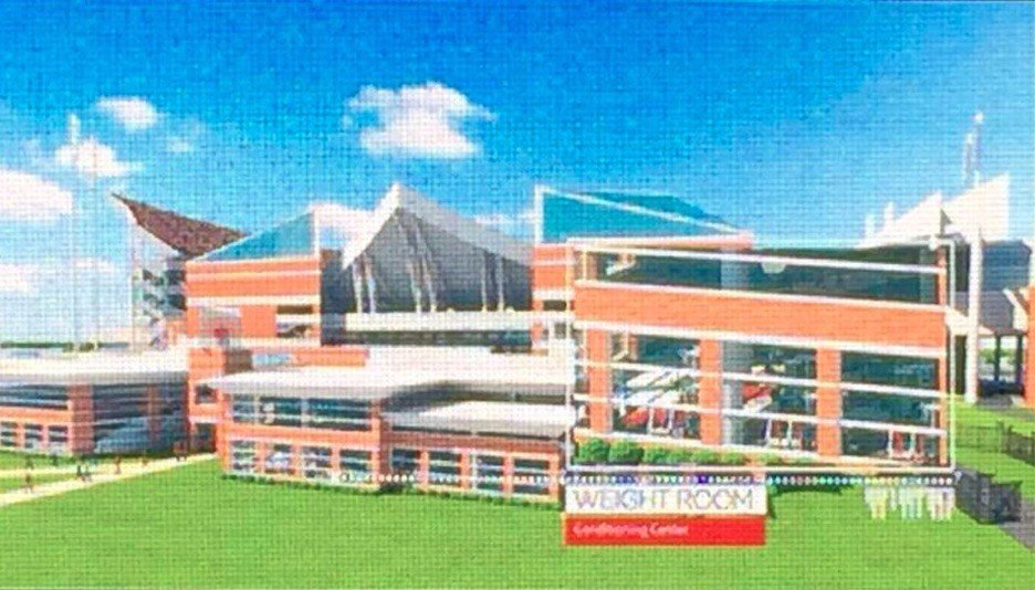 Rendering of proposed changes to the Howard Schnellenberger complex training facility at Papa Joh's Cardinal Stadium. Twitter photo submitted by Jeff Kopple.