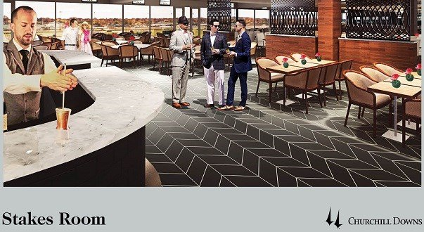 Rendering of Stakes Room at Churchill Downs