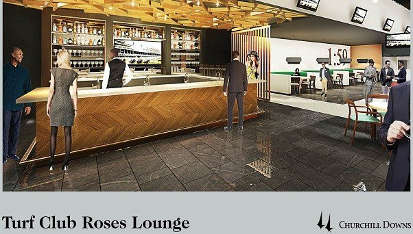 Rendering of Turf Club Roses Lounge at Churchill Downs