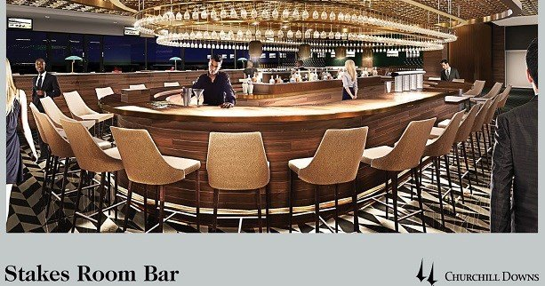 Rendering of Stakes Room Bar at Churchill downs