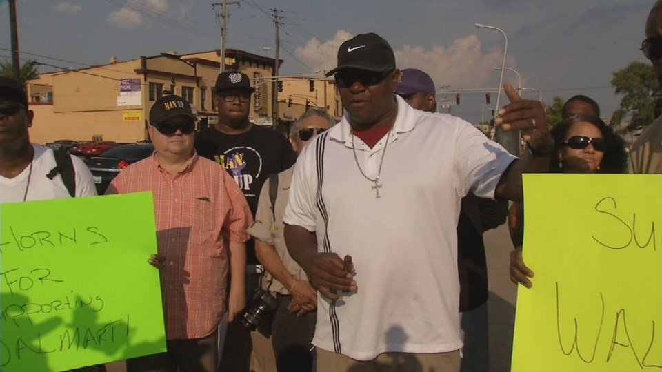 A group of West Louisville residents is asking Walmart not to give up on the proposed store at 18th and Broadway.