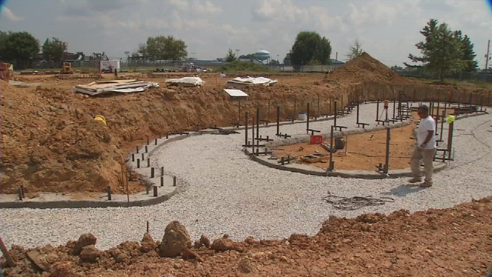 The lazy river taking shape. It may look like a bunch of dirt right now, but the construction at American Legion Park is transforming into a pretty cool place.