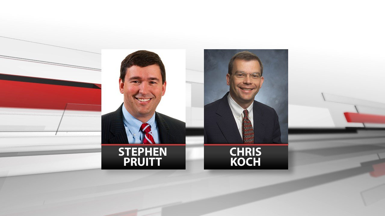 Stephen Pruitt and Chris Koch, the two remaining finalists in Kentucky Education Commissioner search.