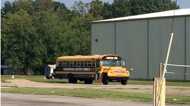 Up to 22 children were staying at a boarding school inside Crossroads Baptist Church in Sellersburg.