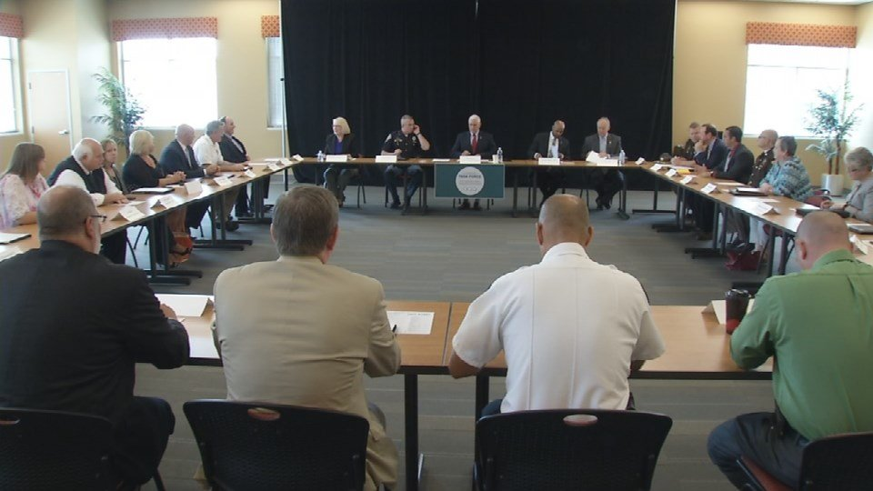 Thursday afternoon, Pence met with local leaders in law enforcement and healthcare to discuss what can be done to combat the growing drug problem in the Hoosier state.