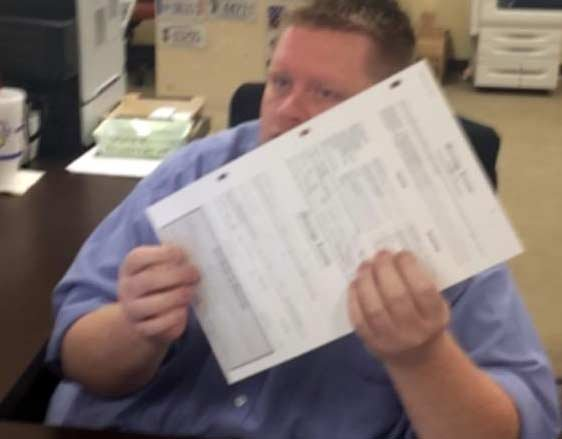 Deputy clerk Brian Mason issued the license Friday morning, congratulating the couple and shaking their hands as he smiled. The couple embraced and cried.