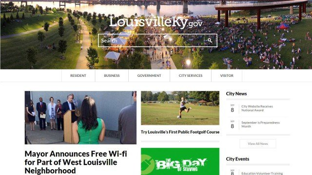 A screenshot from LouisvilleKY.gov