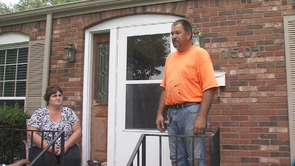 Joe Campbell shows us the damage to his home from the break-in.
