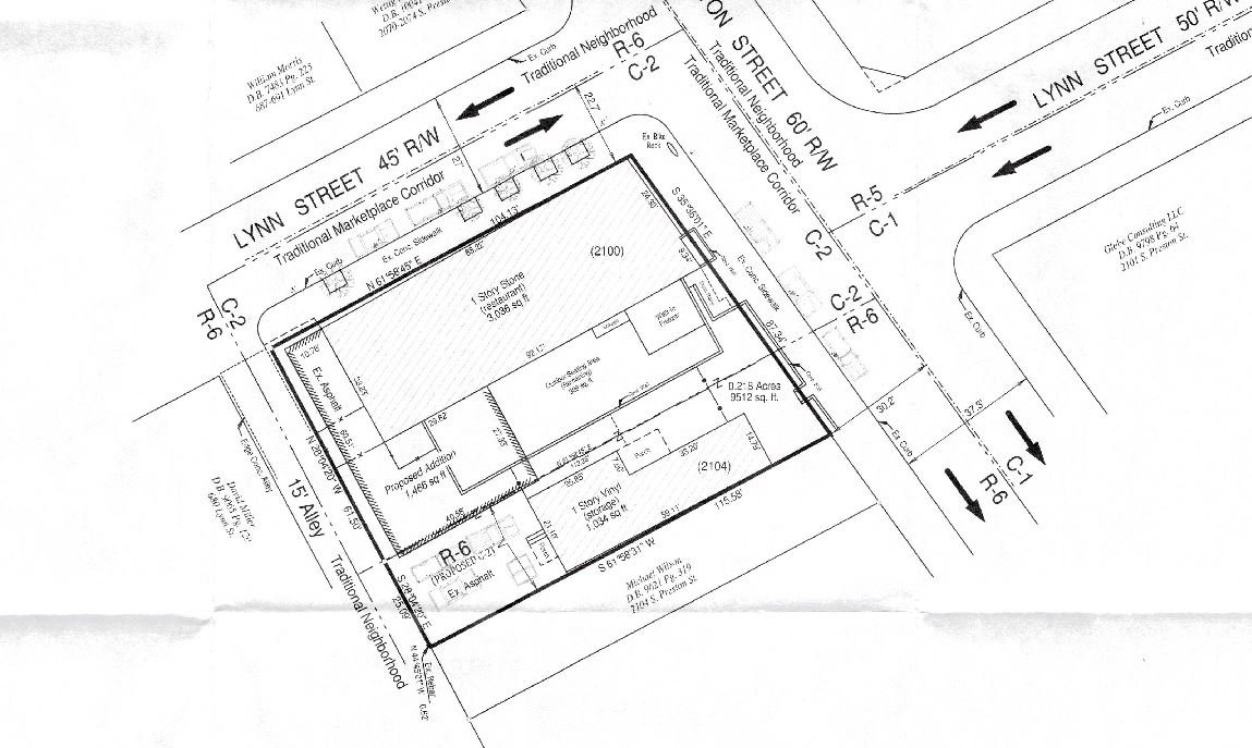 site plan filed with Metro Planning & Design