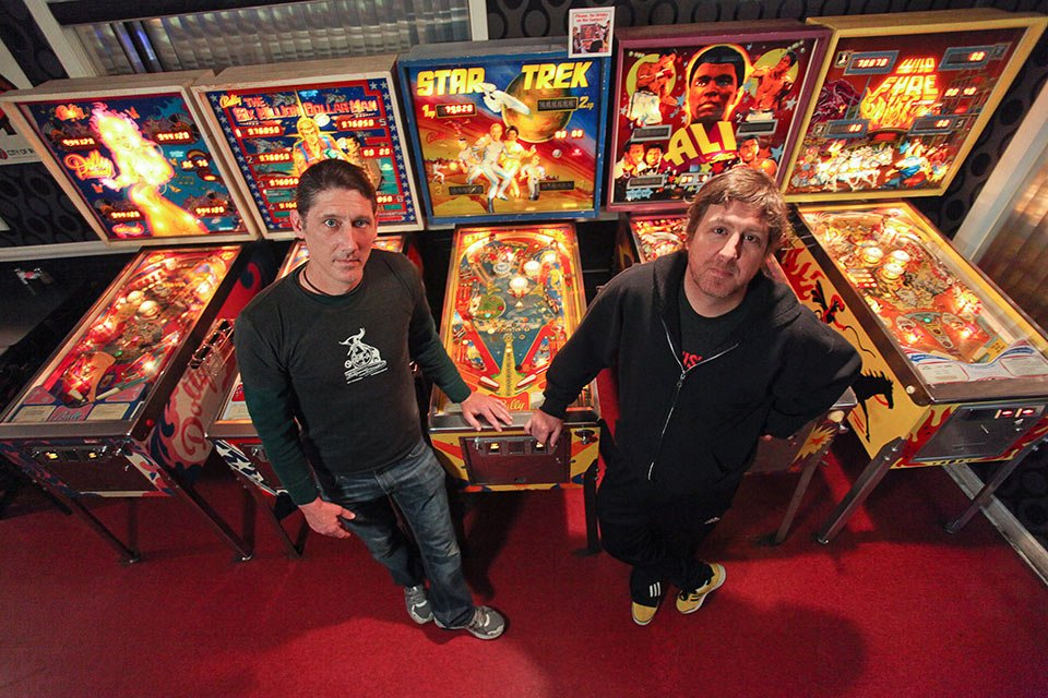 Zanzabar owners Antz and Jon Wettig in the restaurant's arcade space (used with permission)