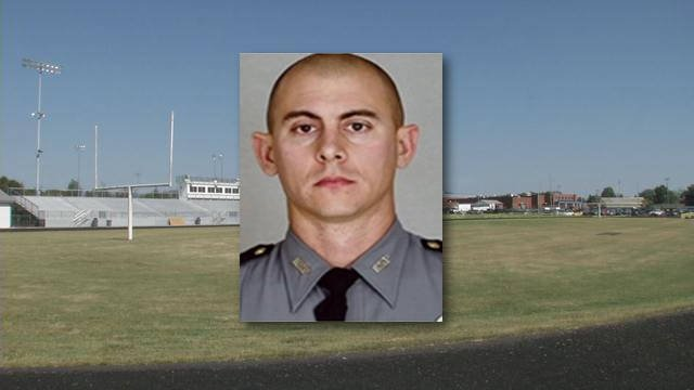 Family, friends and fellow officers gathered on the North Hardin High School Football field Wednesday night to remember fallen KSP Trooper Joseph Ponder.