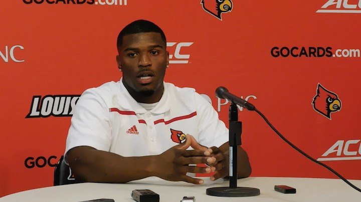 Louisville running back L.J. Scott (WDRB photo by Eric Crawford).