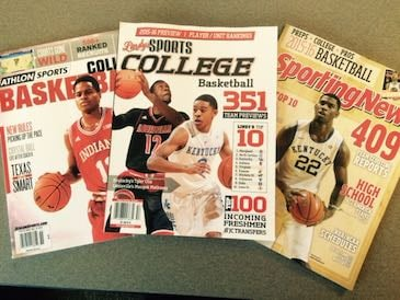 The college basketball pre-season magazines have arrived.