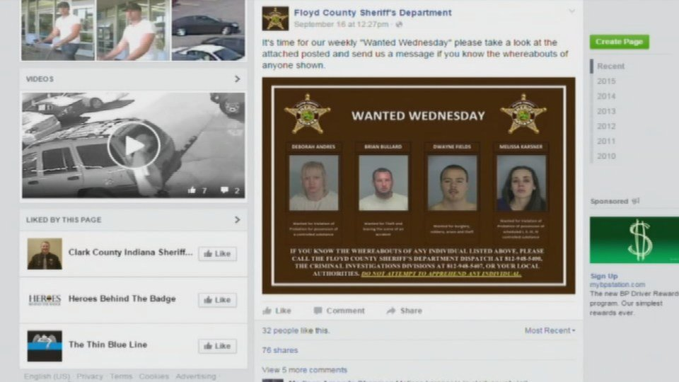 Four names, four mugshots, one online poster -- It's called Wanted Wednesday.