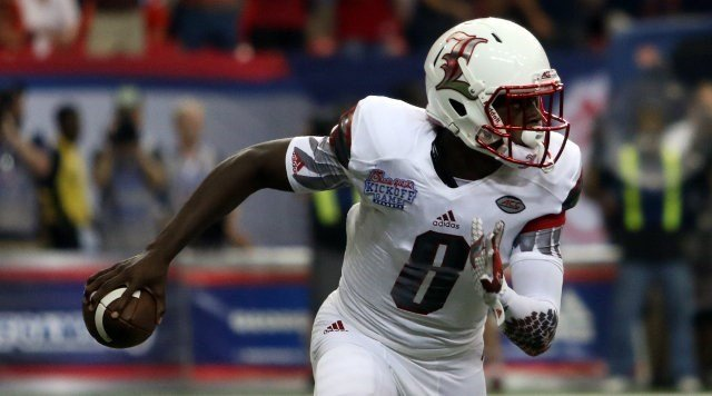 Will freshman QB Lamar Jackson return to the starting spot for Louisville vs. Samford on Saturday? (Photo special to WDRB by Mike DeZarn)