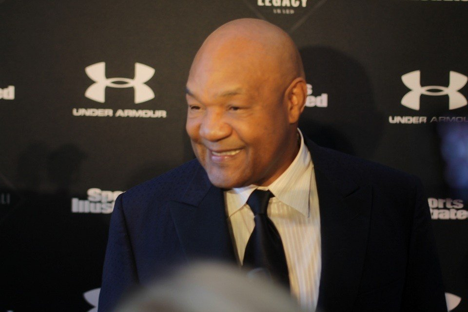 Former Ali boxing opponent George Foreman. He was speaker at ceremony.