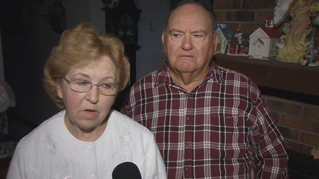 Carolyn and Jerry Childress of Leitchfield, Ky. were awakened around 3 a.m. on Oct. 2, 2015, when a high speed chase ended outside their home.