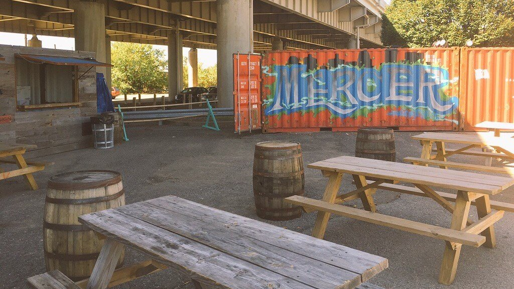 Under the I-64 overpass at 10th and the Ohio River, the eventre-emerges this weekendin the Hillerich & Bradsby parking lot.