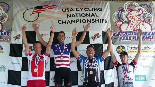 Medalists in the 2009 USA Cycling Masters at Cherokee Park in Louisville (Photo courtesy: USA Cycling).