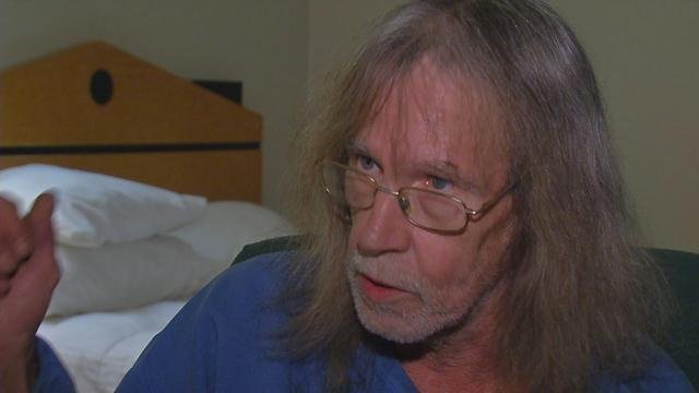 Rick King is being called a hero after he ran back inside a burning apartment to alert his neighbors.