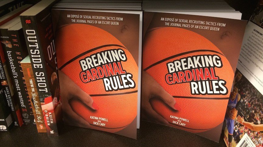 Hard cover edition of Katina Powell's Breaking Cardinal Rules (WDRB photo by Eric Crawford)