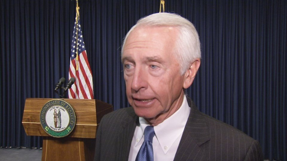 Gov. Steve Beshear spoke to WDRB about the allegations against the University of Louisville basketball program on Tuesday, Oct. 20, 2015.