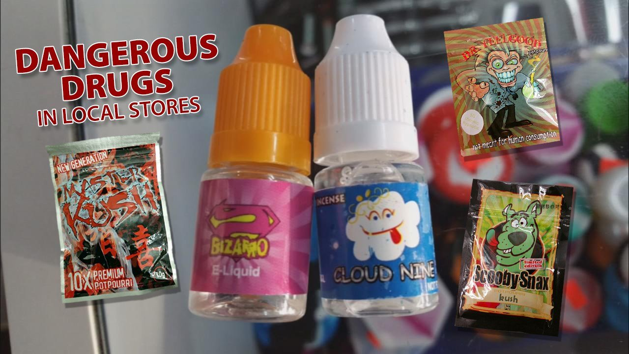 """Dangerous synthetic drugs sometimes marketed with names like """"Bizarro,"""" """"Mr. Nice Guy"""" and """"Cloud 9"""" are being found in local stores and seized by LMPD in an attempt to crack down on the use of the banned substances (WDRB News)"""