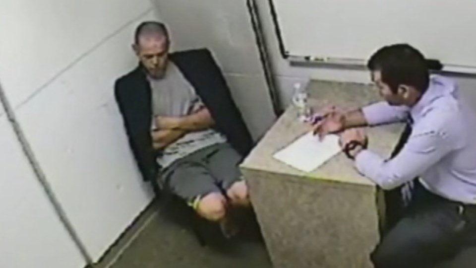 Todd Byrd doesn't give his side of the story to police. He tells the detective he just got out of prison.