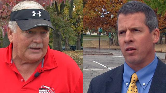 Republican Bob Redman is challenging Democrat Pat Mulvihill.