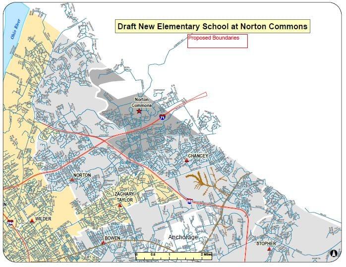 The boundaries for Norton Commons Elementary School.