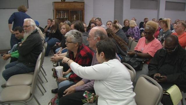 Dozens of people who live in the area near Churchill Downs packed a room in the Salvation Army on Beecher Street to speak their minds about what's been happening around their homes.