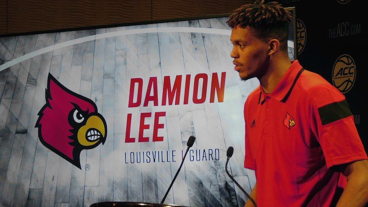 Damion Lee talks at ACC Media Day. (WDRB photo by Eric Crawford)