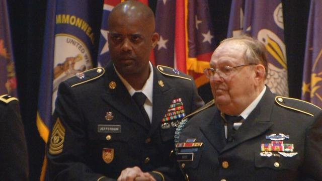 Vernon Rose receives his Bronze Star Medal with Valor.