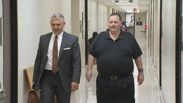 Keith Sellmer (Right) leaves court with his attorney, Larry Wilder, Nov. 2, 2015.
