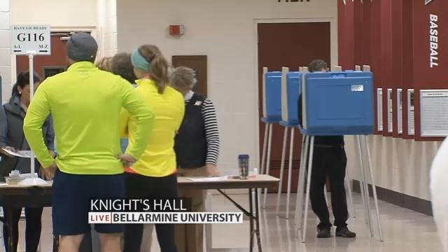 Voters cast ballots at Bellarmine University