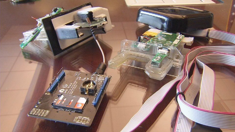 Some of the skimming devices criminals use