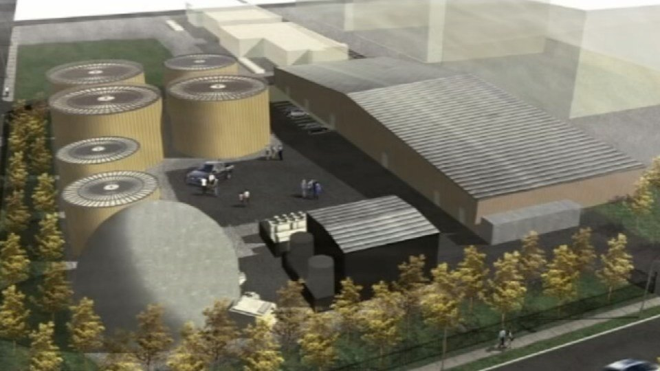 A rendering of the planned biodigester.
