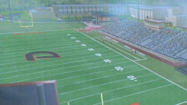 A rendering of the new $6 million athletic complex at DeSales.