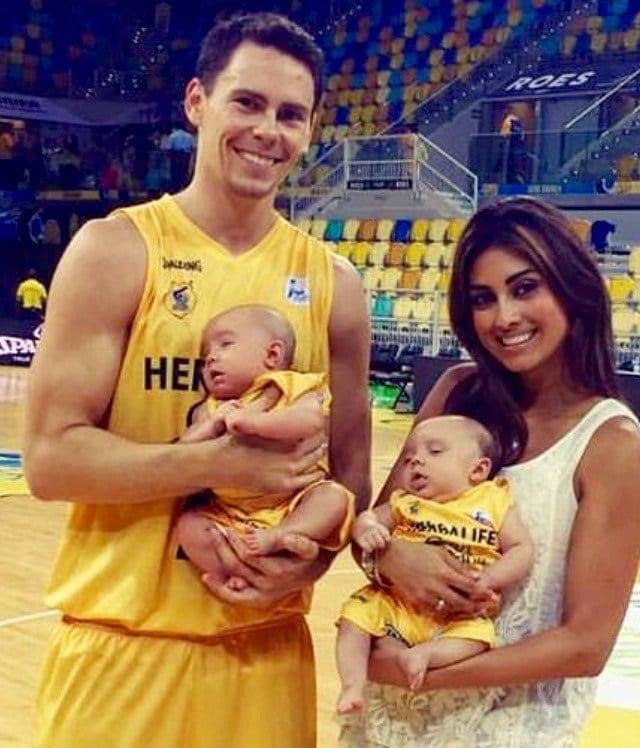 The Kuric family in Spain before Kyle Kuric's surgery. (Facebook photo)