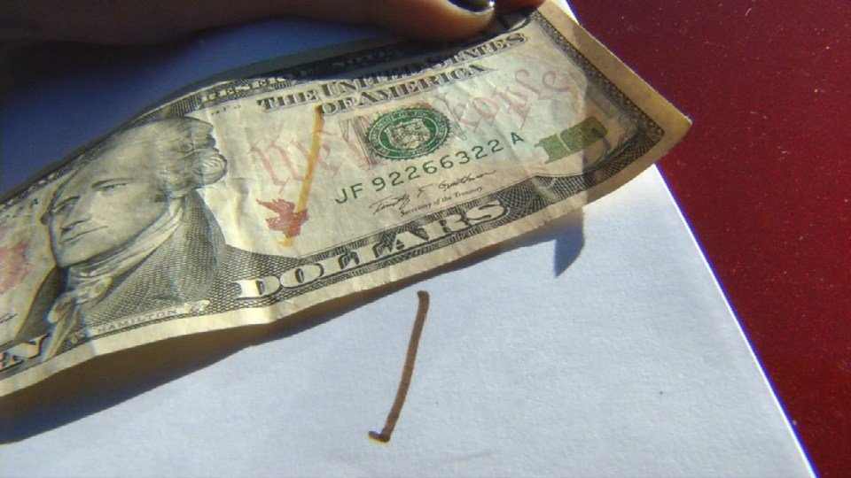 Special markers will put yellow marks on real money, but will put black marks on counterfeit money.