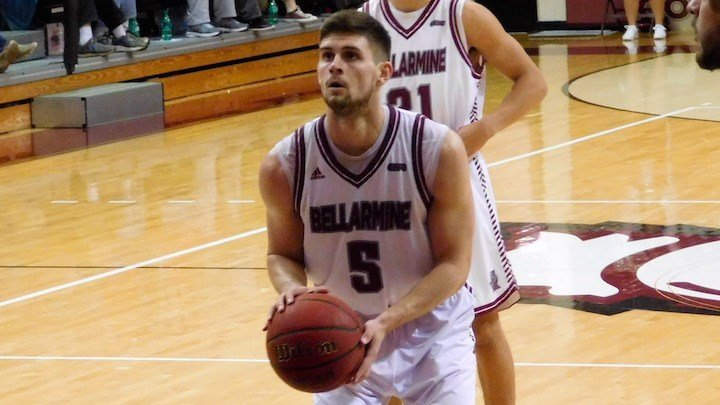 Rusty Troutman scored a career-high 29 points in Bellarmine's 93-81 victory over Saginaw Valley. (WDRB photo by Henry Crawford)