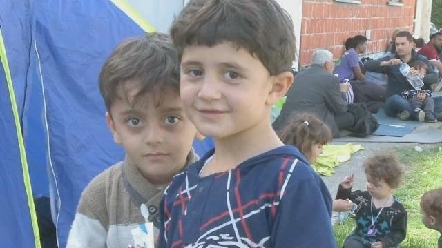 Children among the refugees fleeing violence in Syria.
