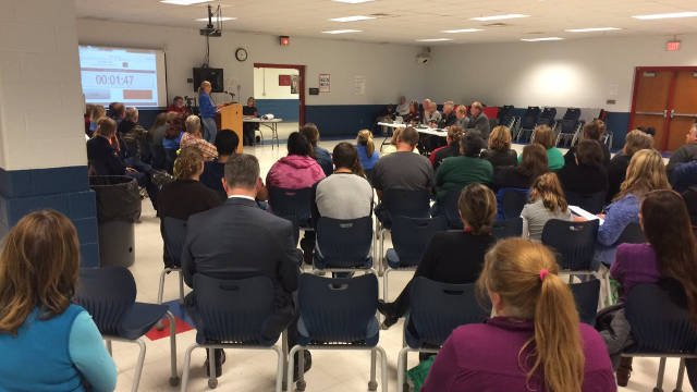 At a board meeting Nov. 17, 2015, one solution involved merging two schools in the district, but after a heated discussion, it looks like the issue won't be brought up again.