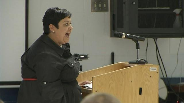 Parents spoke out against the merger at the meeting Nov. 17, 2015.