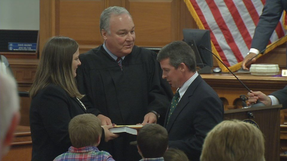 Metro Council's new District 10 representative Pat Mulvihill was sworn in during the meeting Thursday, Nov. 19, 2015.