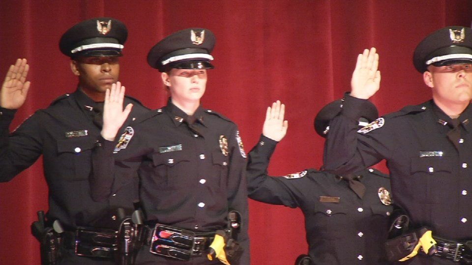 New LMPD officers take their oath of office